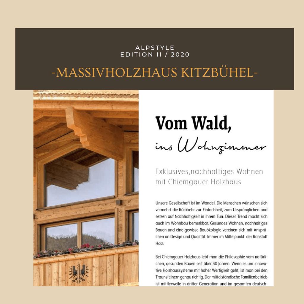 Nachhaltig bauen mit Chiemgauer Holzhaus