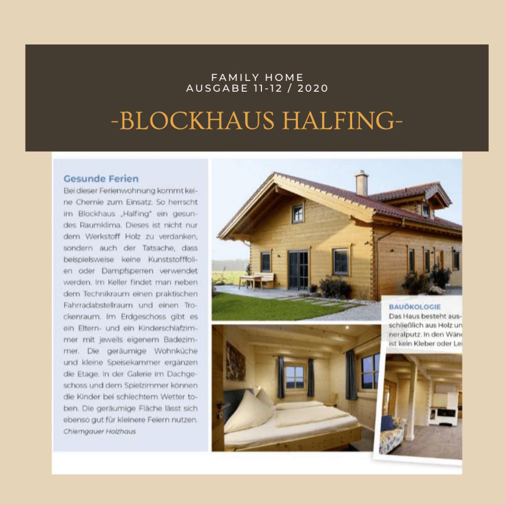Gesund wohnen im Blockhaus Halfing von Chiemgauer Holzhaus